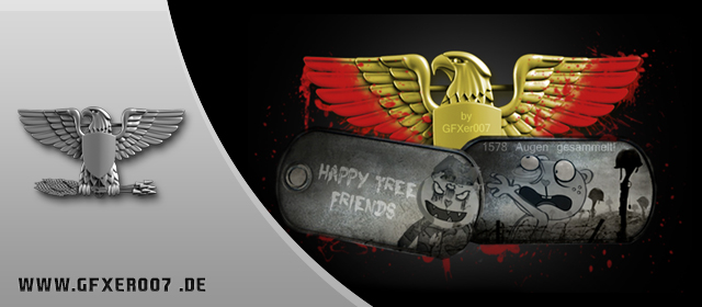 Speedart: Battlefield 3 – Happy Tree Friends dog tag