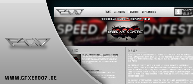 Speedart: PhotoshopTutsRO Website Design Contest